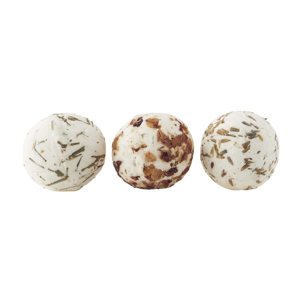 Product shot of Meraki's Soap Balls. Beautifully fragranced and moisturising. Foxford Woollen Mills