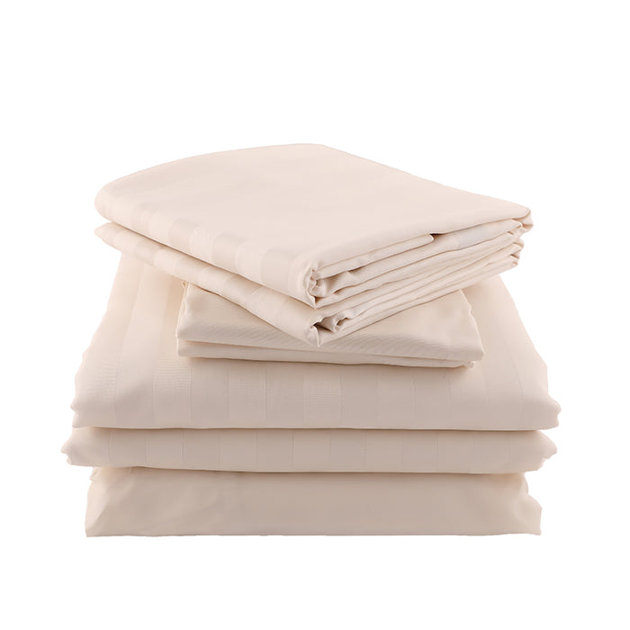 The Luxury Bundle - Sateen Stripe in Natural
