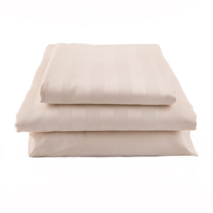 The Basic Bundle - Sateen Stripe in Natural