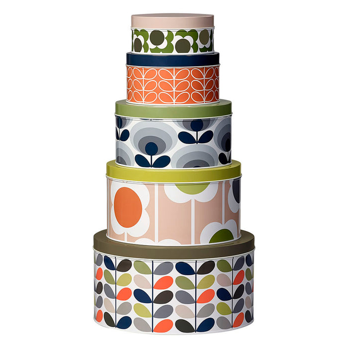 Cake Tins Set of 5 Assorted Stem