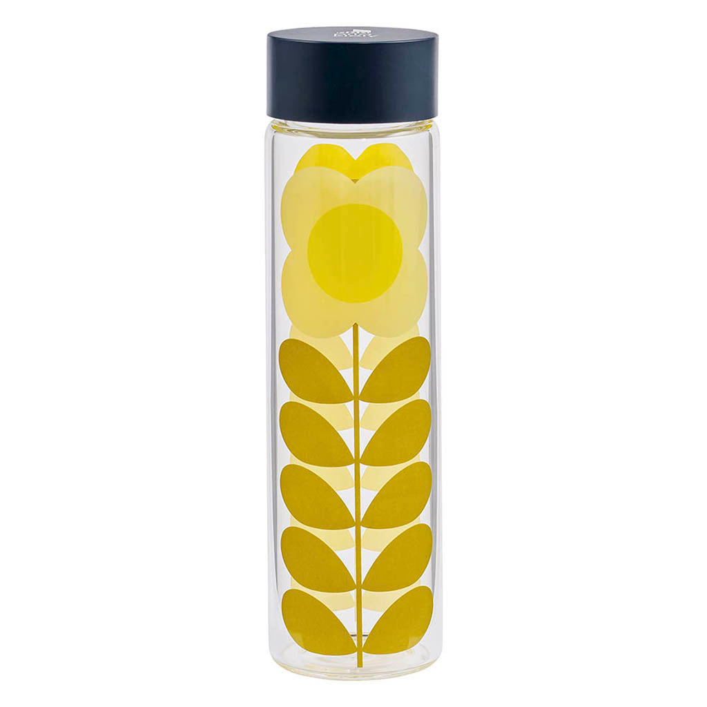 Glass Water Bottle - Daisy Stem