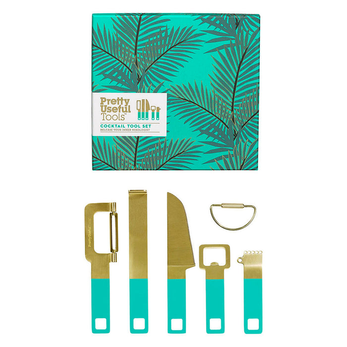 Cocktail Tool Set Tropical Topaz