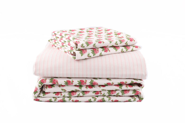 Vintage Floral & Stripe Bed Bundle