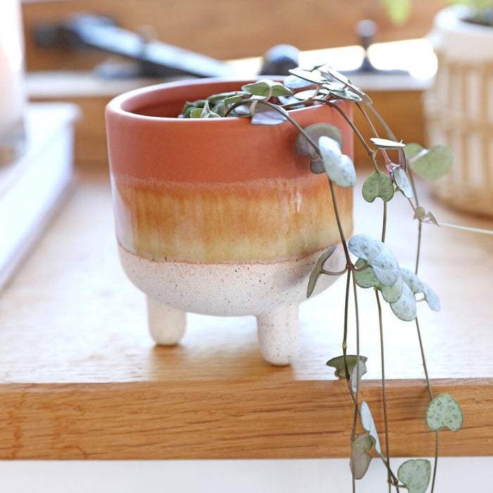 Mojave Glaze Brown Planter