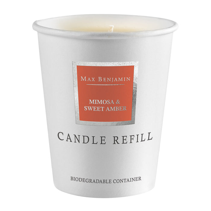 Mimosa and Sweet Amber Max Benjamin Candle Refill