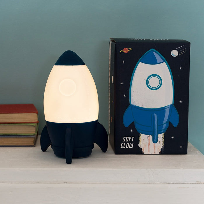 Space Age Rocket Night Light