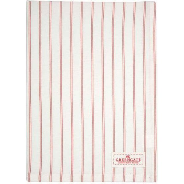 GreenGate Kajsa Tea Towel - Coral