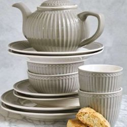 GreenGate Cereal Bowl Alice - Warm Grey