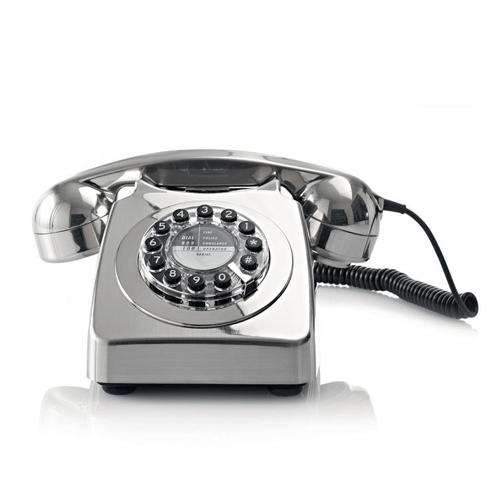 746 Brushed Chrome Corded Phone