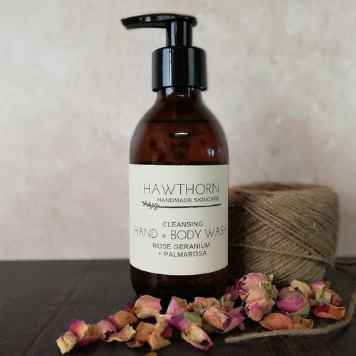 Hand and Body Wash Rose Geranium with Palmarosa