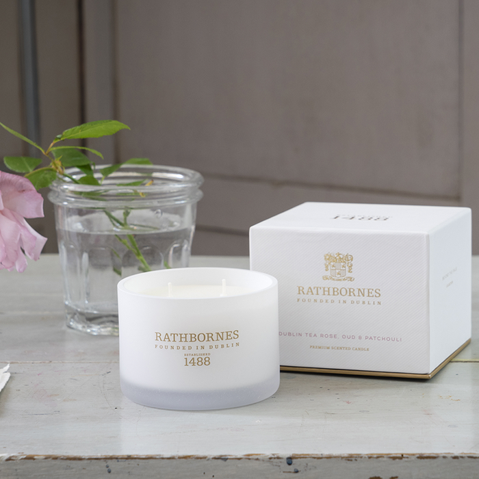 Rathbornes Dublin Tea Rose - Classic Candle