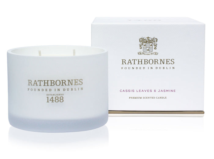 Rathbornes Cassis Leaves And Jasmine - Classic Candle