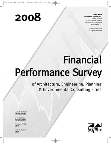 2008 Financial Performance Survey