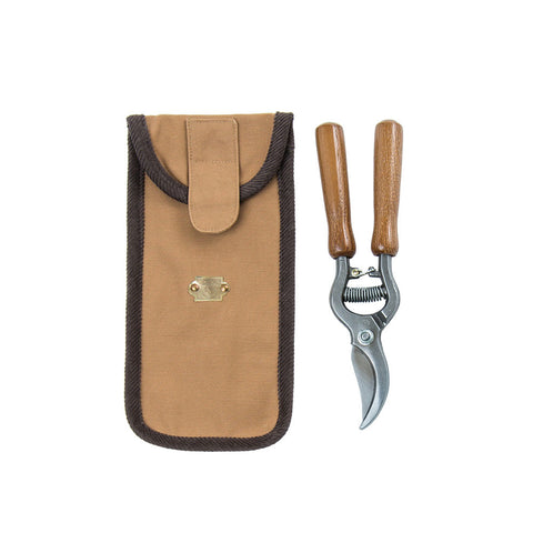 Large Pruning Shears with Wooden Handles