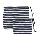 Large Navy Stripe Canna Pouch
