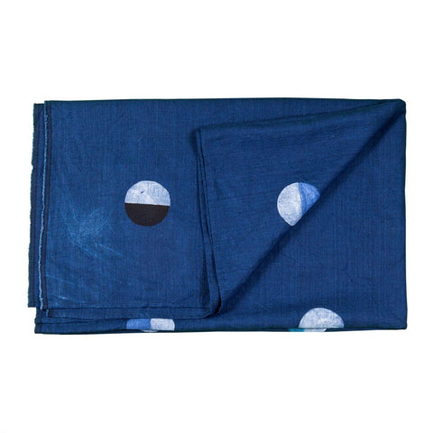 Joshua Tree Indigo Linen Multicolor Moons Throw