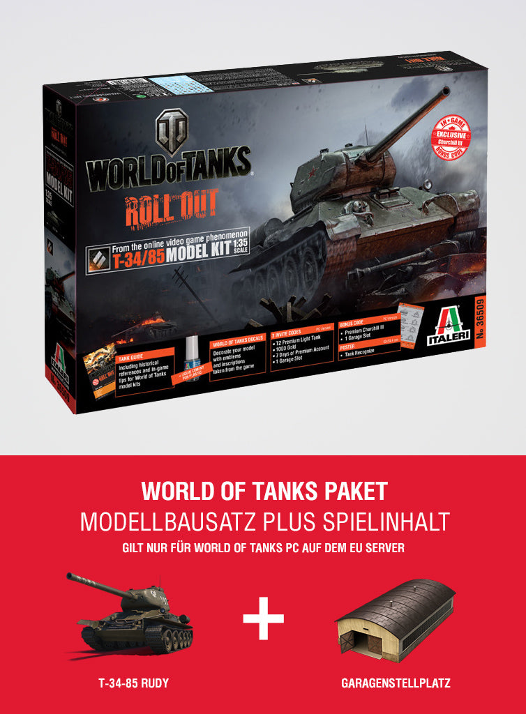 World of Tanks Bundle T-34/85 Model Kit + special in-game content