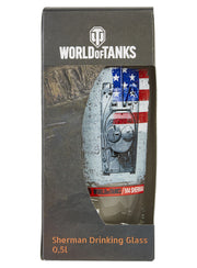 World of Tanks Sherman Drinking Glass