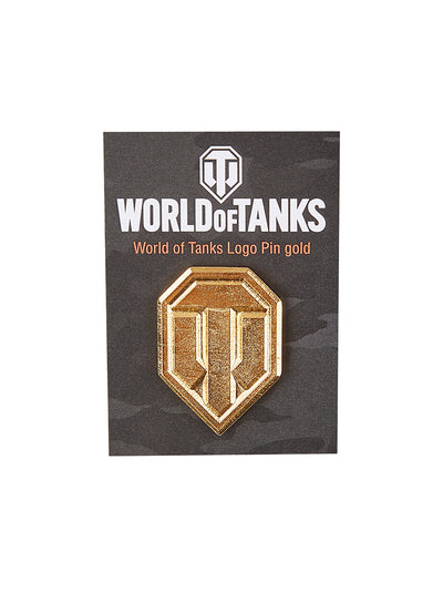 World of Tanks Logo Pin Gold