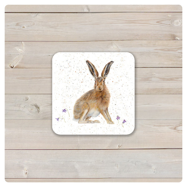 'Woodland Collection' Coaster - 'Harebell' Hare