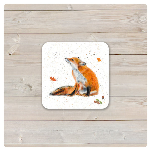 'Woodland Collection' Coaster - 'Basil' Red Fox - Harebell Designs