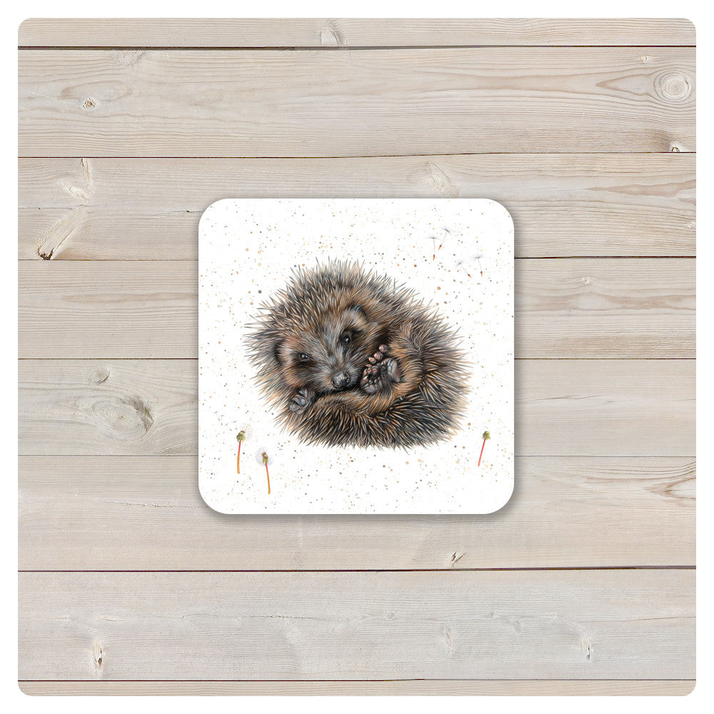 'Woodland Collection' Coaster - 'Prickle' Hedgehog - Harebell Designs