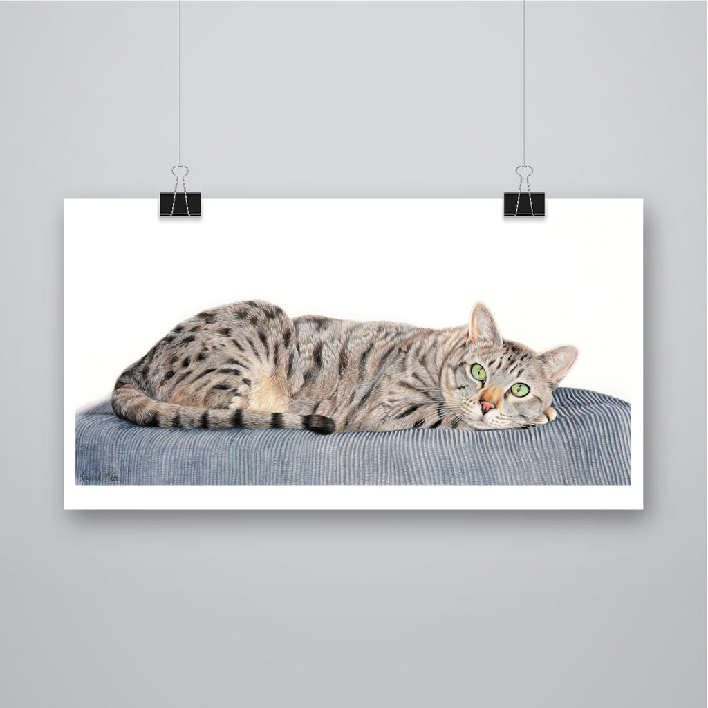'Charlie' Cat Print - Harebell Designs
