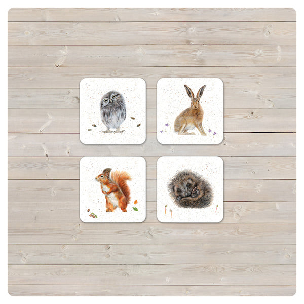 'Woodland Collection' Coaster - 'Harebell' Hare - Harebell Designs