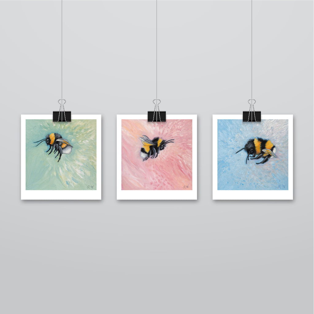 Flower Bees Collection | Unmounted