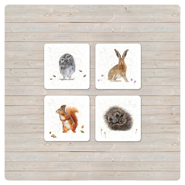 'Woodland Collection' Placemat - 'Twit' Little Owl - Harebell Designs