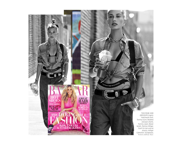 Hailey Baldwin in Suzi Roher Belt Graces Harper's Bazar!