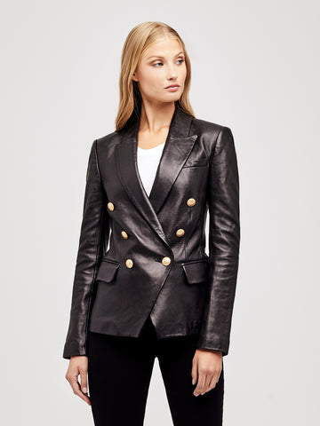 Kenzie Leather Blazer