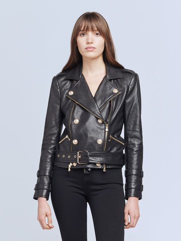 Billie Belted Leather Jacket