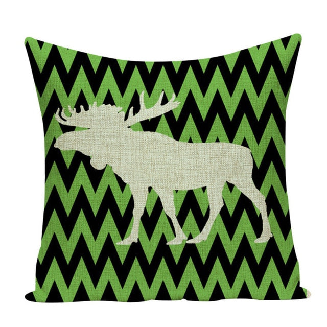 Elg putetrekk (moose pillow cover)