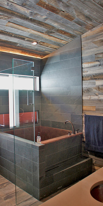 Are wooden wall panels suitable for a bathroom?