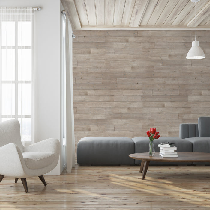 Skandi style with wooden wall panelling