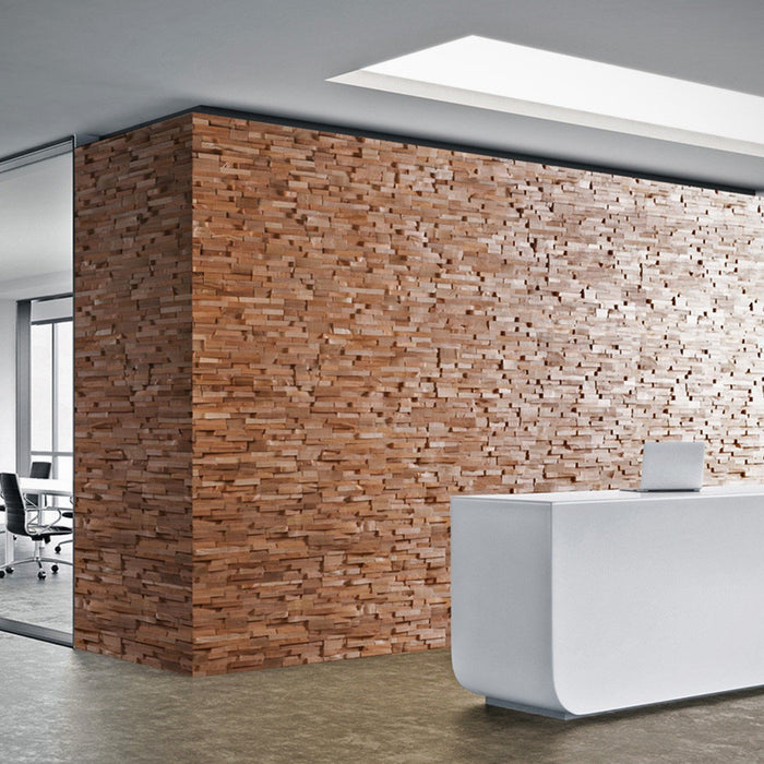 Add warmth to working spaces with wood panelling