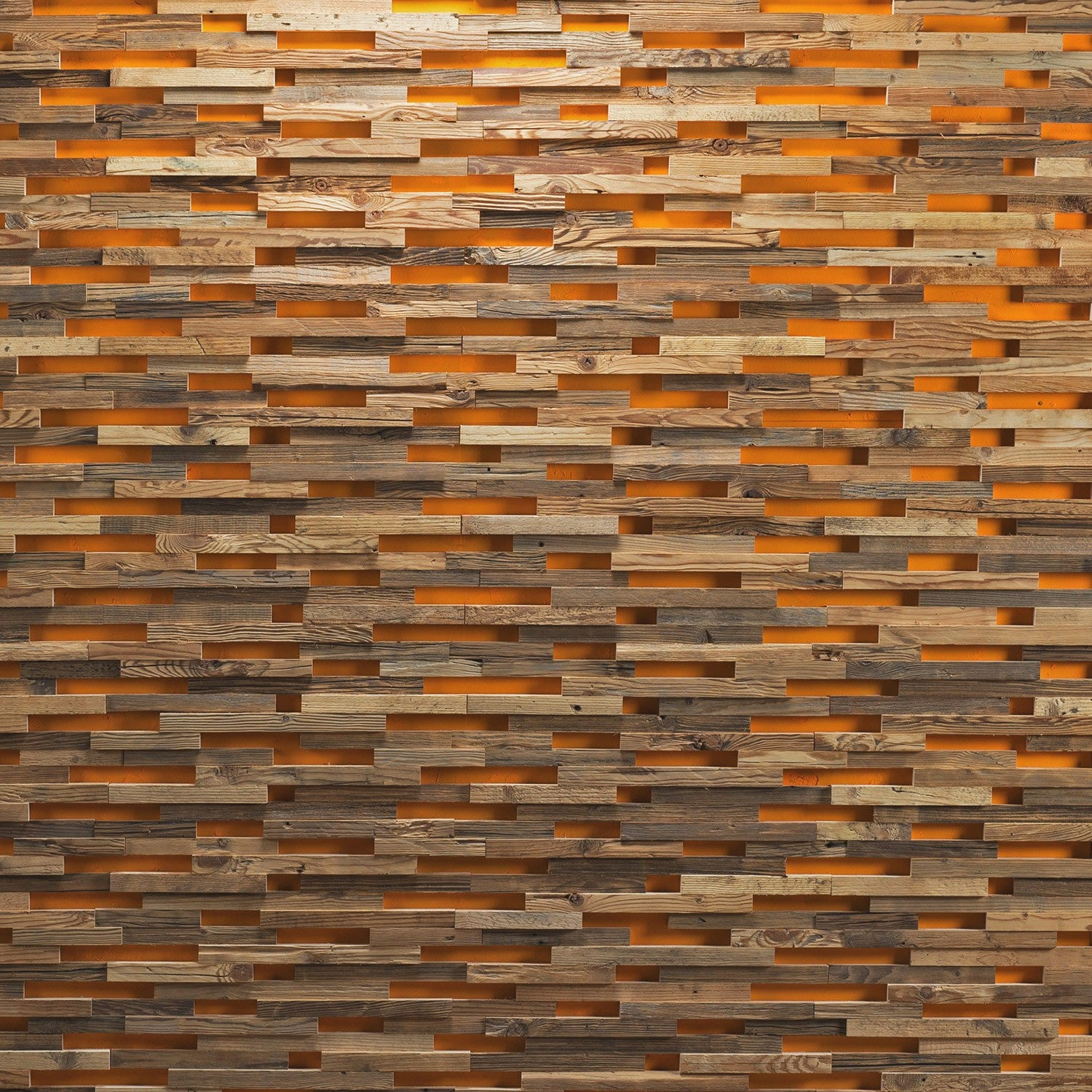 Tryon Grey and Gold Antique Wood Plain Wall