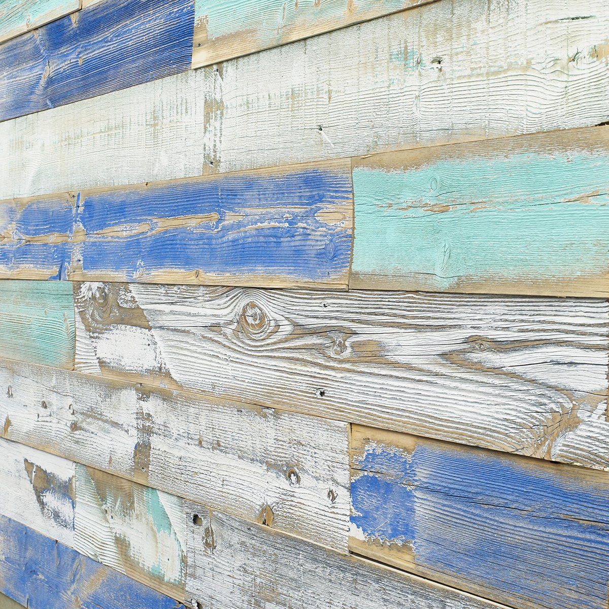Bijou Creek Blue Reclaimed Wood Angle