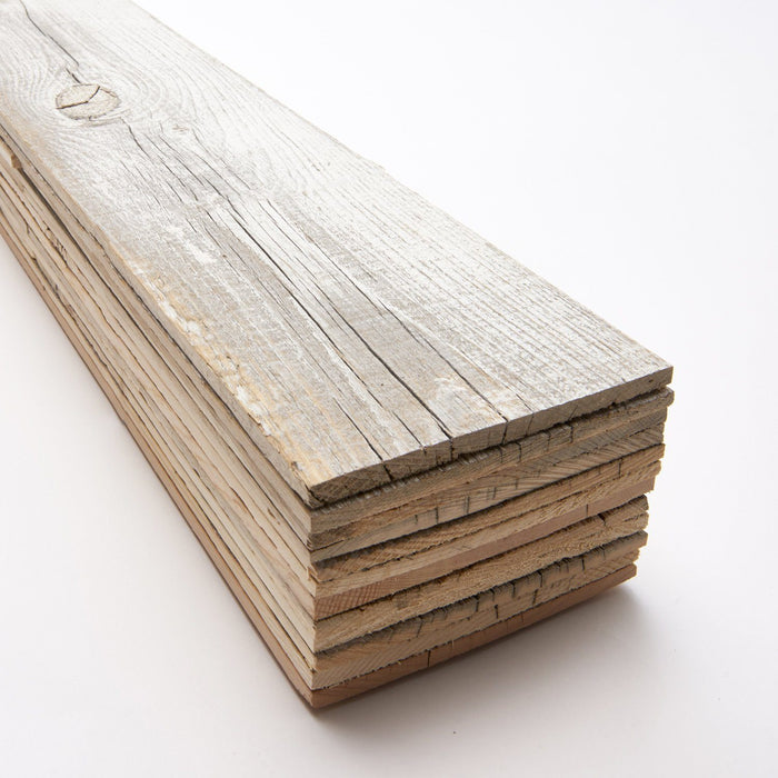 Culebra Peak White Reclaimed Wood Wall Panels