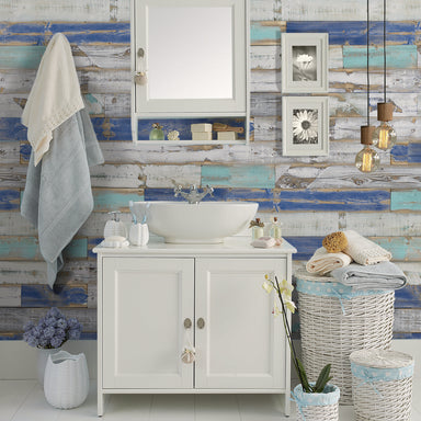 Bijou Creek Blue Reclaimed Wood Wall Panels