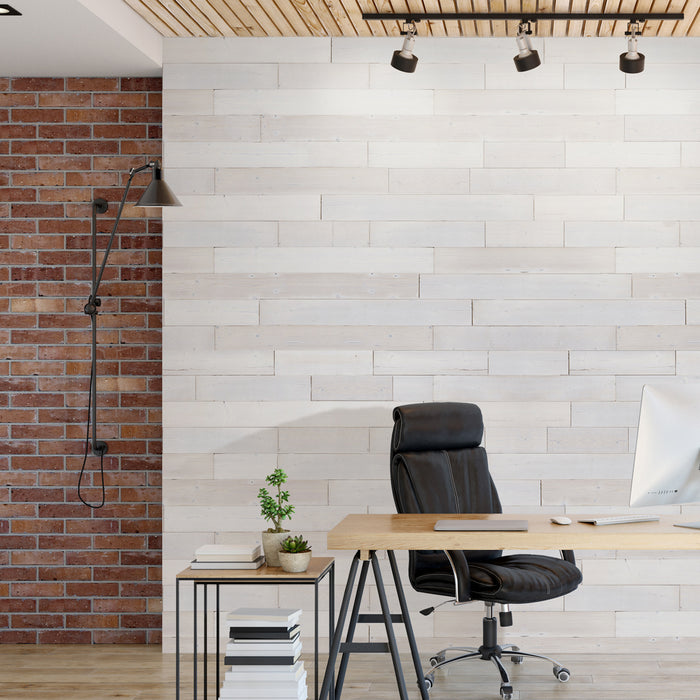 White Washed TimberStik Wood Wall Panels