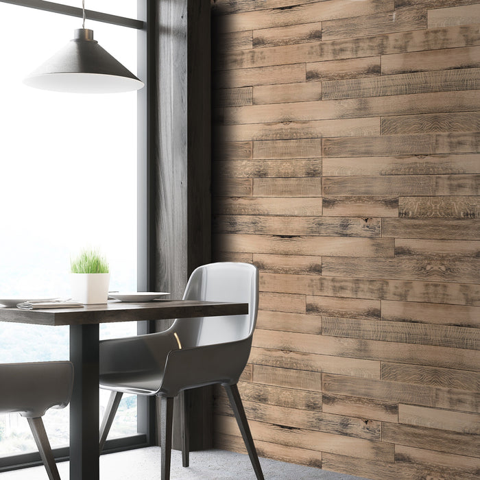 Vintage Parchment Oak Reclaimed Wood Wall Panels