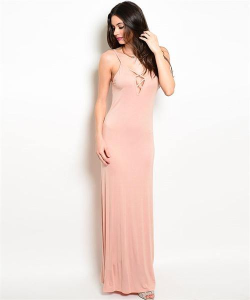 Blush Maxi Dress - HOTSUGARBOUTIQUE