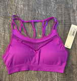 Neon Purple Mesh Sports Bra