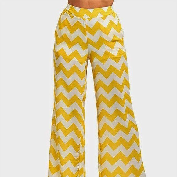 Yellow Palazzo Pant - ASTRIABOUTIQUE