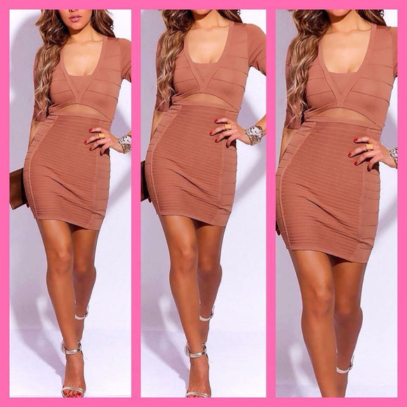 Nude Bandage Dress - ASTRIABOUTIQUE