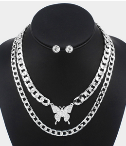 Butterfly Chains- Silver - HOT SUGAR BOUTIQUE