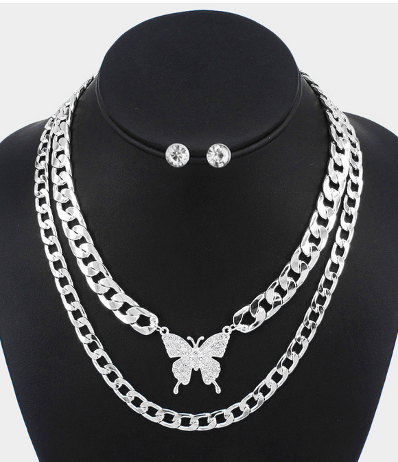 Butterfly Chains- Silver