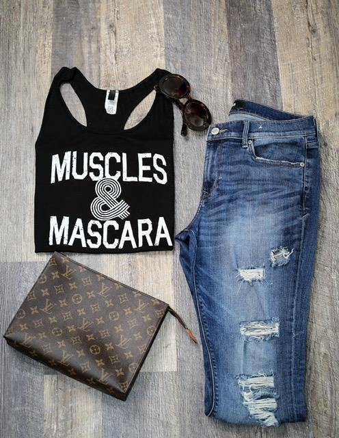 Muscles & Mascara Tank - HOTSUGARBOUTIQUE